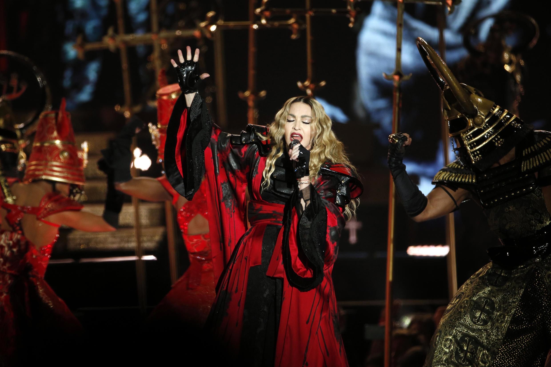 Madonna performing in Paris in December 2015