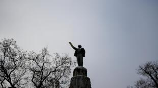 Estátua de Lenin en Yevpatoriya, Crimea. 10/01/17