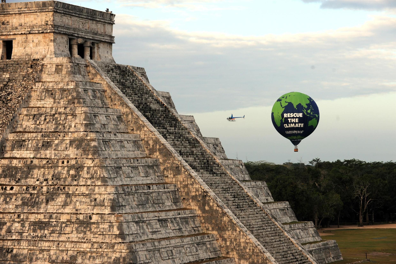 法广存档图片:生态主义者在墨西哥坎昆做宣传活动。 Image d'archive RFI : Une manifestation des écologistes à Cancun (Mexique).