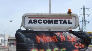 Des salariés de l'aciériste Ascometal lors d'un mouvement social en 2014 à Saint-Saulve, le site vient de fermer.  (image d'archives)