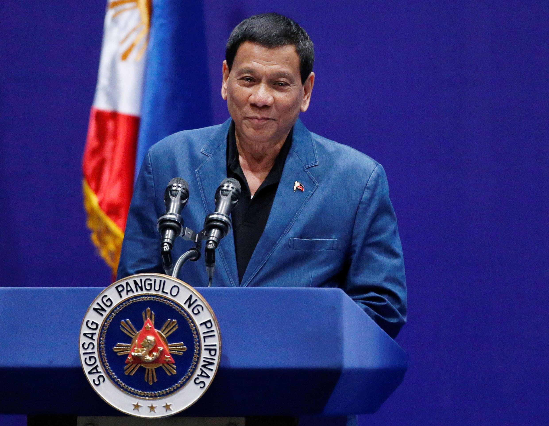 菲律賓總統杜特爾特在香港一次菲律賓社團活動上 2018年4月12日
