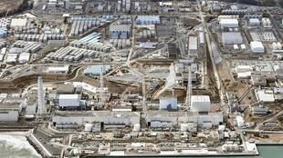 Ảnh chụp từ trên không nhà máy điện hạt nhân Fukushima, ngày 11/03/2015, nhân kỷ niệm 4 năm thiên tai.