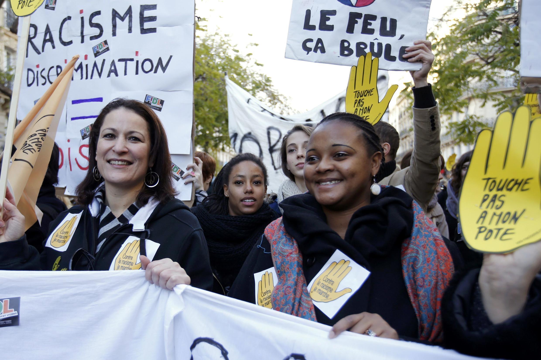Anti-racist protesters in Paris
