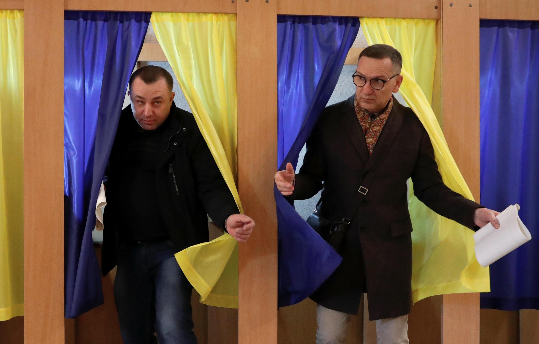 На одном из избирательных участков в Киеве, 31 марта 2019 г.