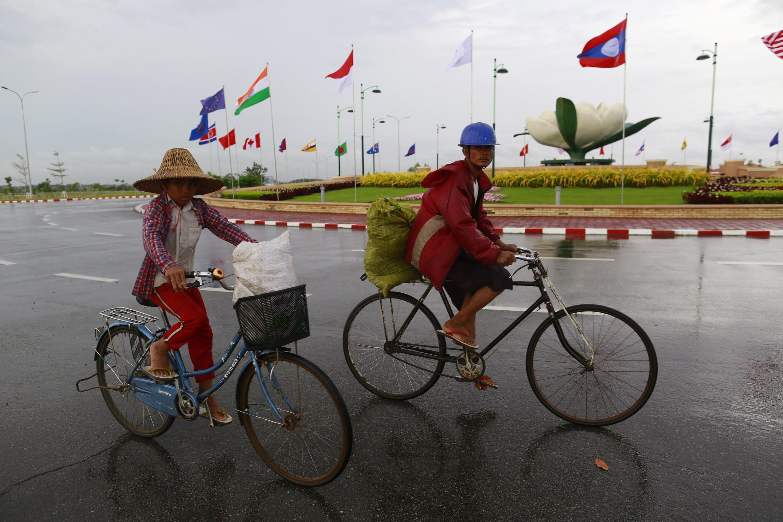 Một đường phố ở thủ đô Naypyitaw ngày 6/8/2014.