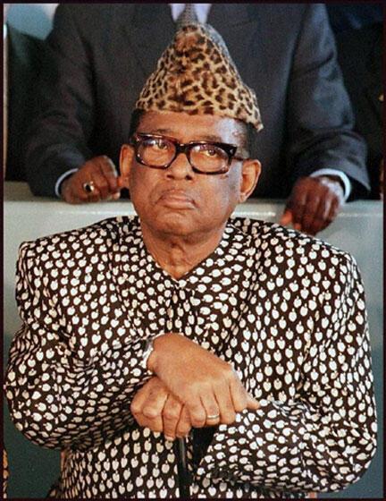 4 mai 1997. Mobubu Sese Seko.