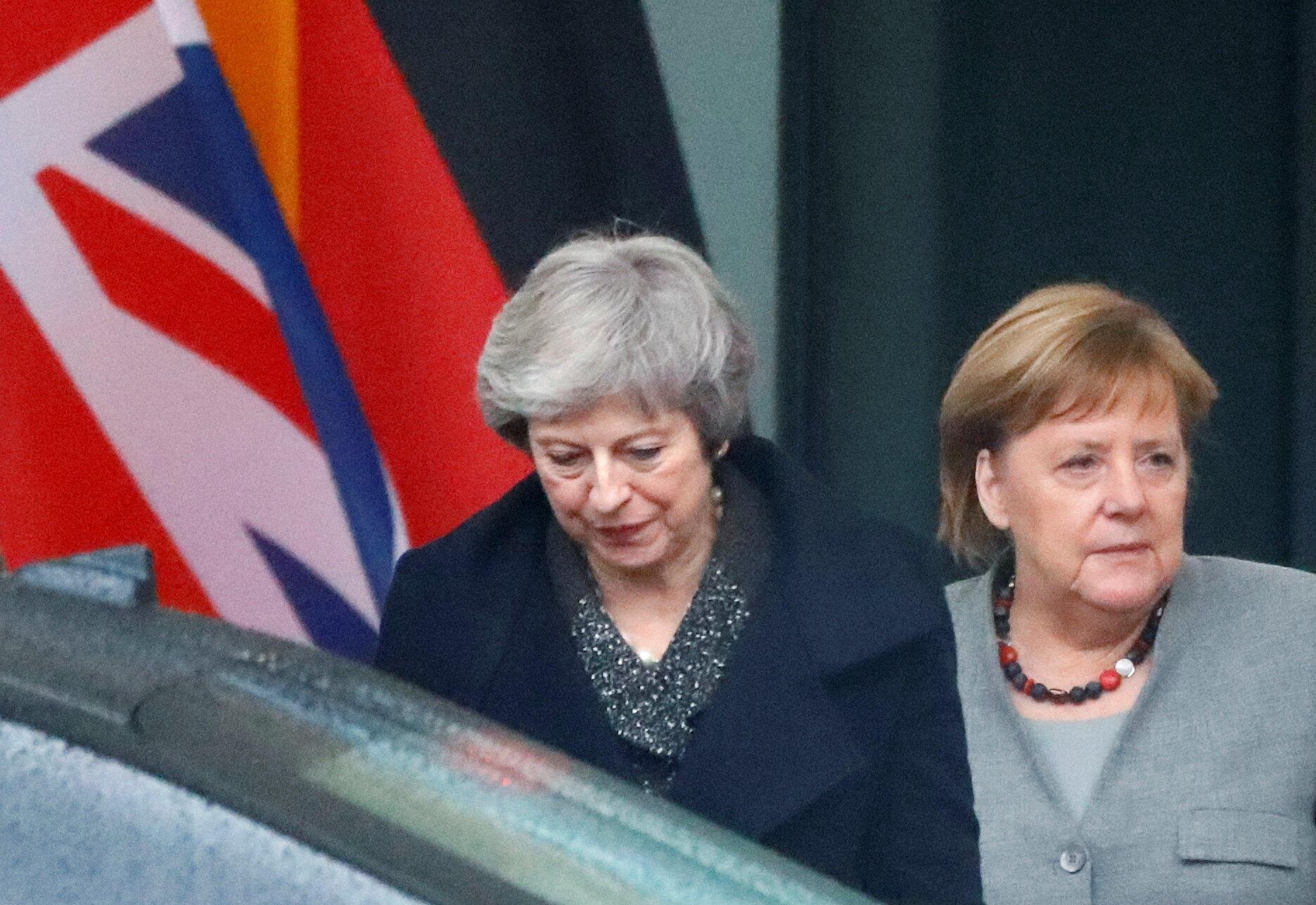 La Première ministre britannique Theresa May et la chancelière Angela Merkel, à Berlin, le 11 décembre 2018.