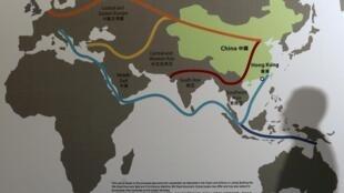 關於中國一帶一路的報道圖片