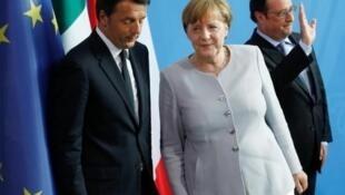 Merkel ta Jamus da Renzi na Italiya da Hollande na Faransa na tattaunawa batun ficewar Birtaniya daga Tarayyar Turai