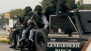 Les forces de sécurité ivoiriennes déployées à Abidjan, le 4 novembre 2020.