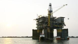 Plateforme pétrolière au large de l'Angola.