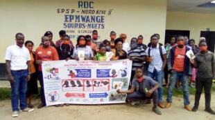 Les participants à la campagne de sensibilisation au Covid-19 destinée aux sourds-muets.