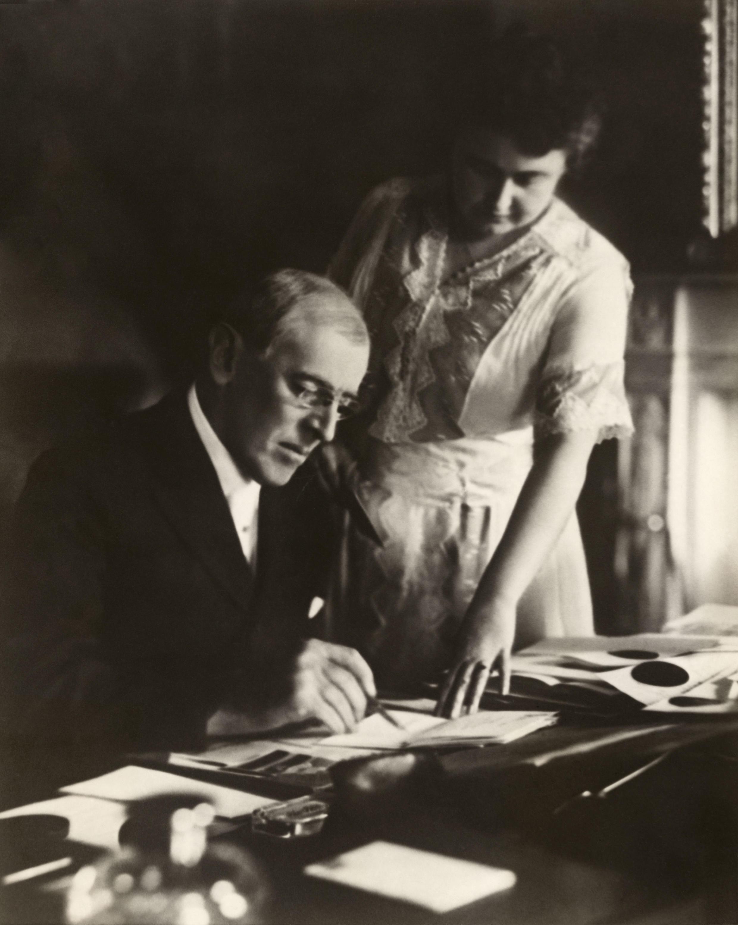 Вудро Вильсон и его жена Эдит