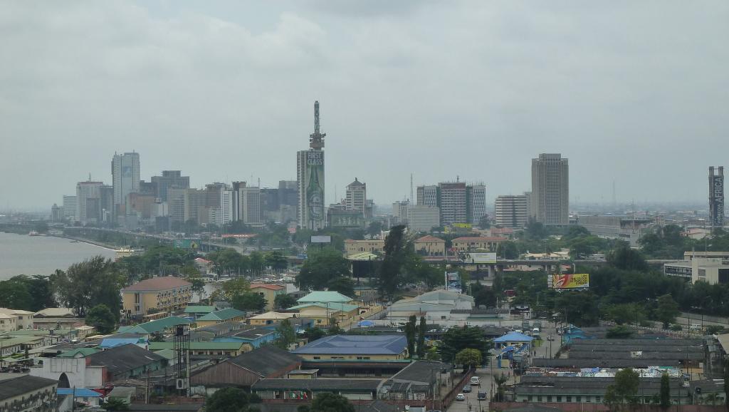 Vue aérienne de Lagos, la plus grande ville du Nigeria.