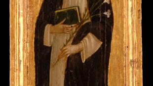 Santa Catalina de Siena, Pintura sobre madera de Bernardino Fungai.