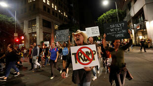 Протесты против избрания Дональда Трампа президентом США, Лос-Анджелес, 9 ноября 2016.