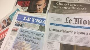 Primeiras páginas dos jornais franceses de 24 de setembro de 2018