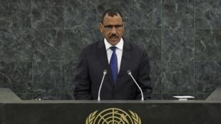 Le ministre nigérien de l'Intérieur et de la Sécurité publique Mohamed Bazoum, lors d'une allocution aux Nations unies le 27 septembre dernier.