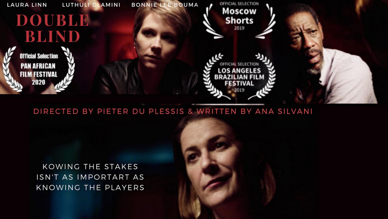 """O curta-metragem """"Double Blind"""", uma co-produção de brasileiros e sul-africanos, está em competição no 28° Pan African Film Festival."""
