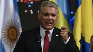 Le président colombien Ivan Duque à Medellin, le 26 juin 2019.