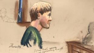 Croquis daté du 4 janvier de Dylan Roof, lors de son procès devant le tribunal de Charleston.