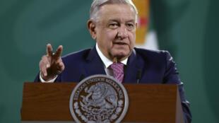 El presidente mexicano, Andrés Manuel López Obrador, el 8 de febrero de 2021 en el Palacio Nacional, en Ciudad de México