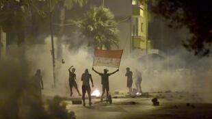 tunis manifestations police tunisie