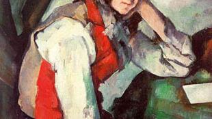 """O quadro """"Jovem com colete vermelho"""", de Paul Cézanne, foi roubado em 2008, na Suíça."""