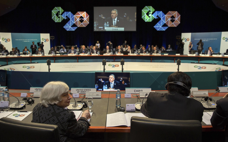 Os ministros das Finanças e os presidentes dos Bancos Centrais do G20 estão reunidos neste sábado (20) e domingo (21) em Cairns, na Austrália.