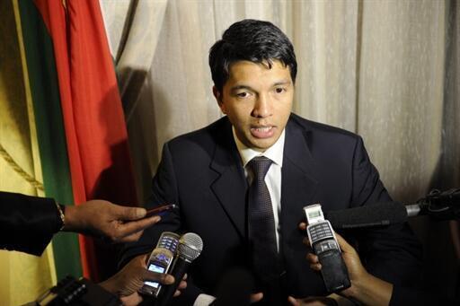 Le président malgache, Andry Rajoelina, le 29 avril 2010 à Pretoria.