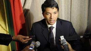 Le président malgache de la transition Andry Rajoelina à Pretoria.