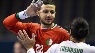PHOTO Handball Algérie - Khalifa Ghedbane et Riad Chehbour - 12 mars 2021