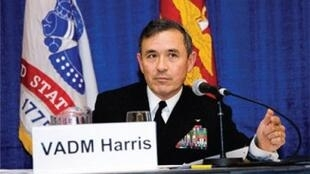 圖為美國太平洋艦隊司令哈里斯