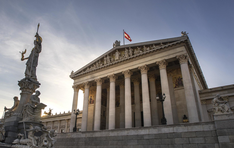 El edificio del Parlamento Austriaco, 3 de febrero de 2015.