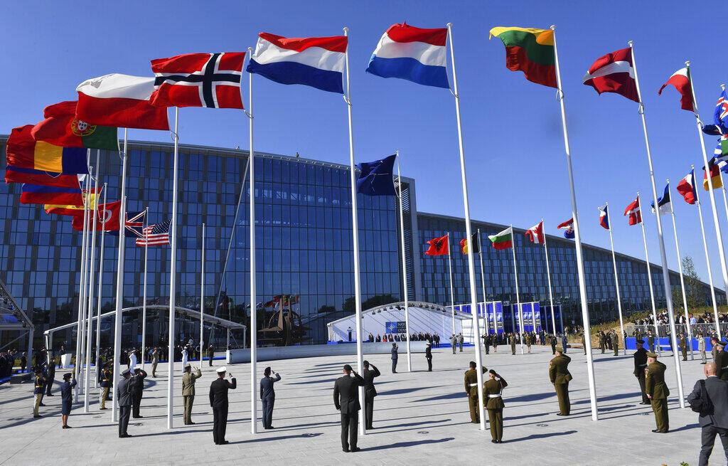Ảnh minh họa : Cờ của các nước thành viên NATO tại Bruxelles, Bỉ, ngày 25/05/2017.