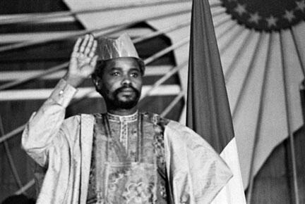 Le président tchadien Hissène Habré, le 16 août 1983, à N'Djamena.