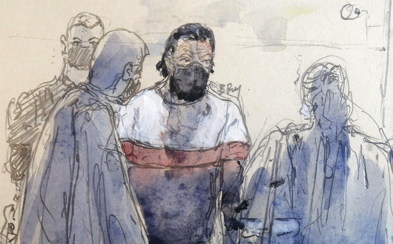 Salah Abdeslam, le 8 septembre 2021 lors de son procès à Paris.