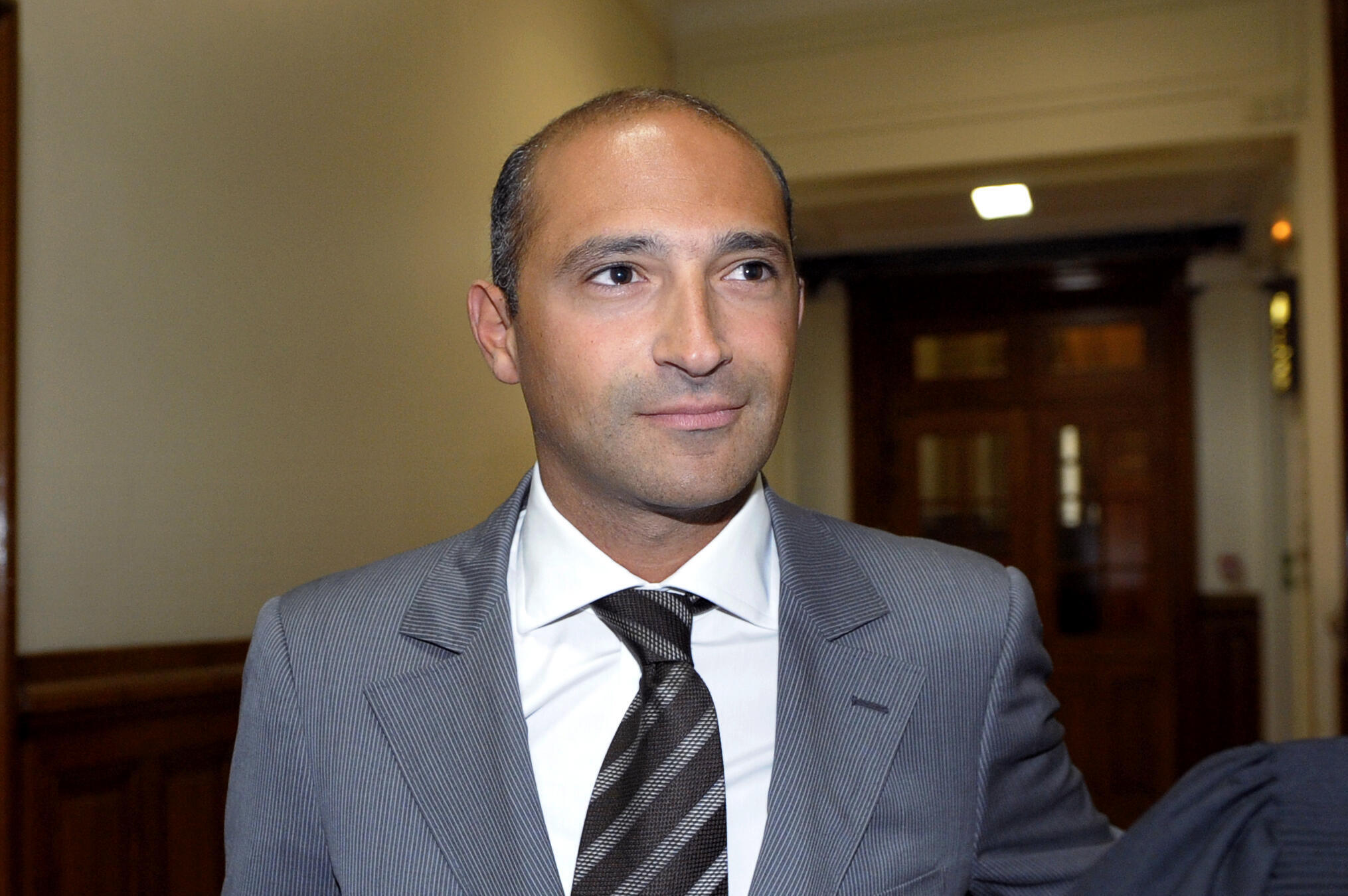 Тома Фабиус в здании Парижского суда, 01/06/11.