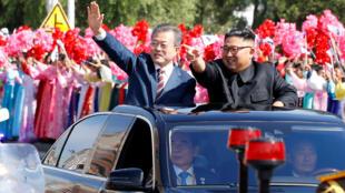 Shugaban Koriya ta Arewa, Kim Jong Un da takwaransa na Koriya ta Kudu, Moon Jae In