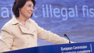 La commissaire européenne à la Pêche, Maria Damanaki, à Bruxelles, le 26 novembre 2013.