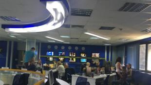 A Sarajevo, la rédaction de la télévision publique BHRT qui a largement couvert l'agression du journaliste Vladimir Kovacevic.