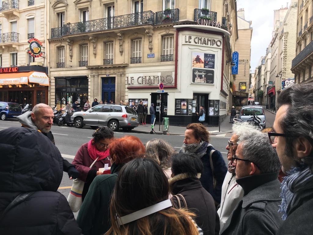 """Cinema """"Le Champo"""". Gabo lo visitó varias veces en compañía de su amiga Tachia Quintana."""