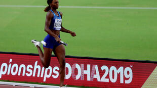 Dalilah Muhammad won gold in the 400m hurdles and ran one of the legs in the victorious US 4x400m relay team.