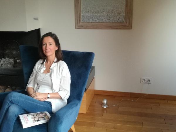 Catherine Mory, à son domicile en banlieue parisienne, le 16 décembre 2019.