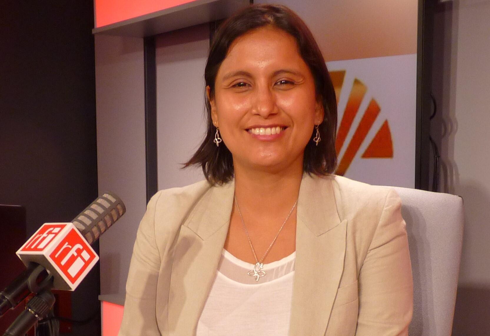 La investigadora y gestora cultural peruana Katherine Díaz Cervantes en RFI