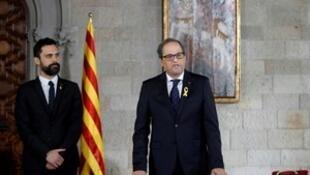 西班牙加泰羅尼亞自治區新任主席托拉宣誓就職.2018-05-17