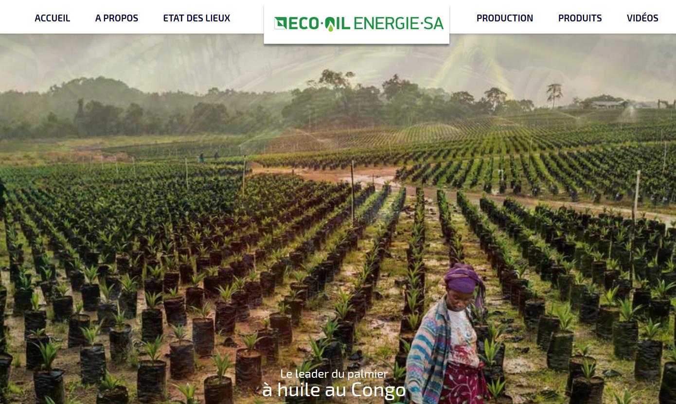 Capture d'écran du site de la société Ecoi-Oil.