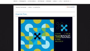 Capture d'écran du site internet des Rencontres Transmusicales de Rennes.
