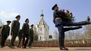 Officers from Belarus take part in Chernobyl commemoration service