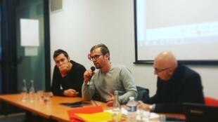 Vincent Autin (au centre), co-fondateur de la plateforme Yunow.